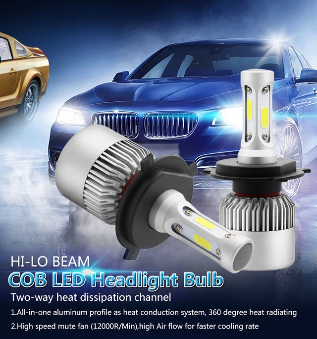 LED H1//H4//H7 600W 72000LM Headlight Car Conversion CREE Bulb Beam 6500K White