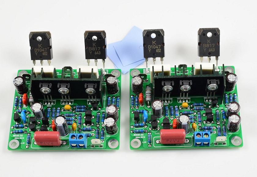 Ljm mx50 se 100w100w power amp kit stero amplifier kit diy ebay 2pcs unassembled mx50 se 100wx2 dual channel audio power amplifier board diy kit solutioingenieria Gallery