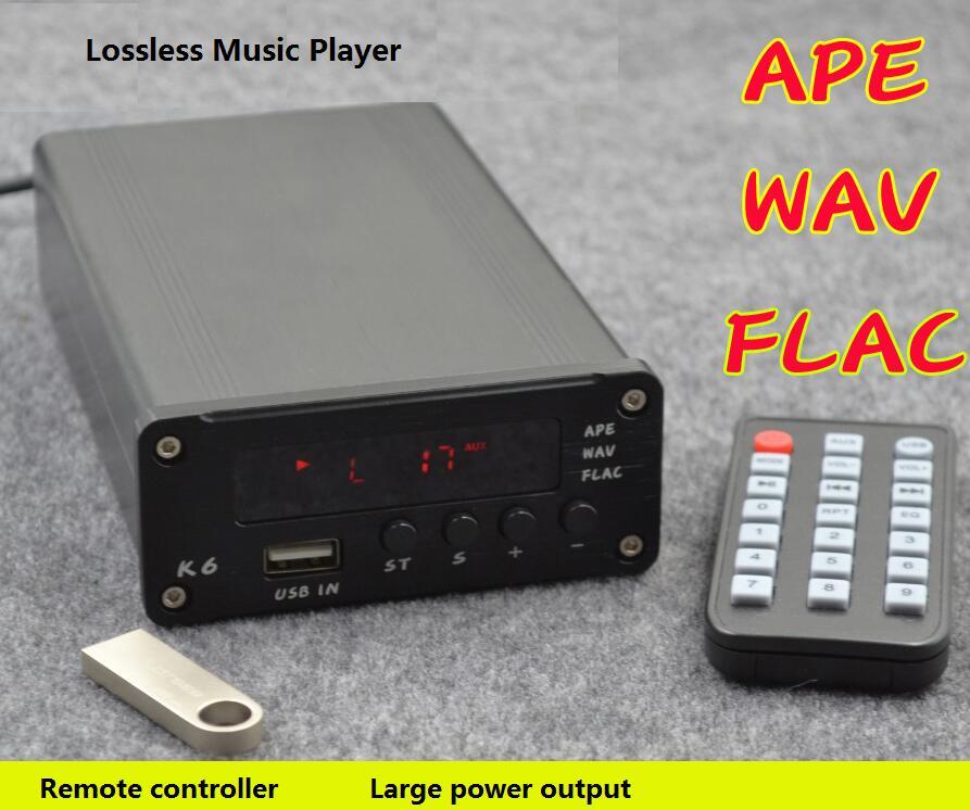 ZL K6 APE WAV FLAC MP3 Lossless Player + TDA7498L Digital T-amp