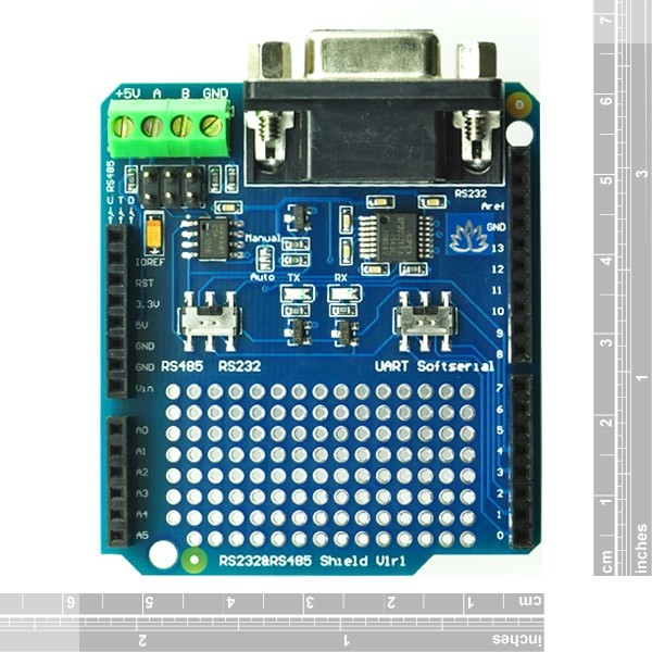 RS232 RS485 Shield for Arduino Convert UART RS232 RS485