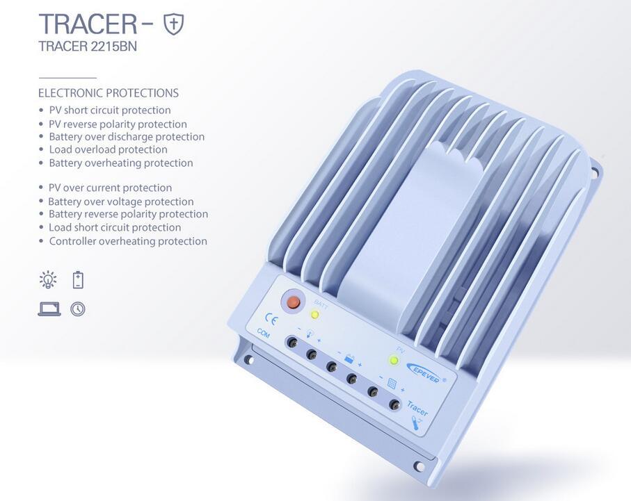 Tracer 2215BN MPPT Solar Charge Controller Regulator 20A 12V
