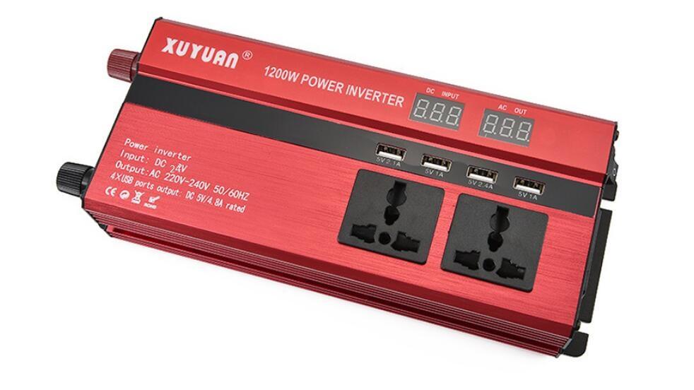 1200W Car LED Power Inverter Converter DC 24V To AC 220V 4