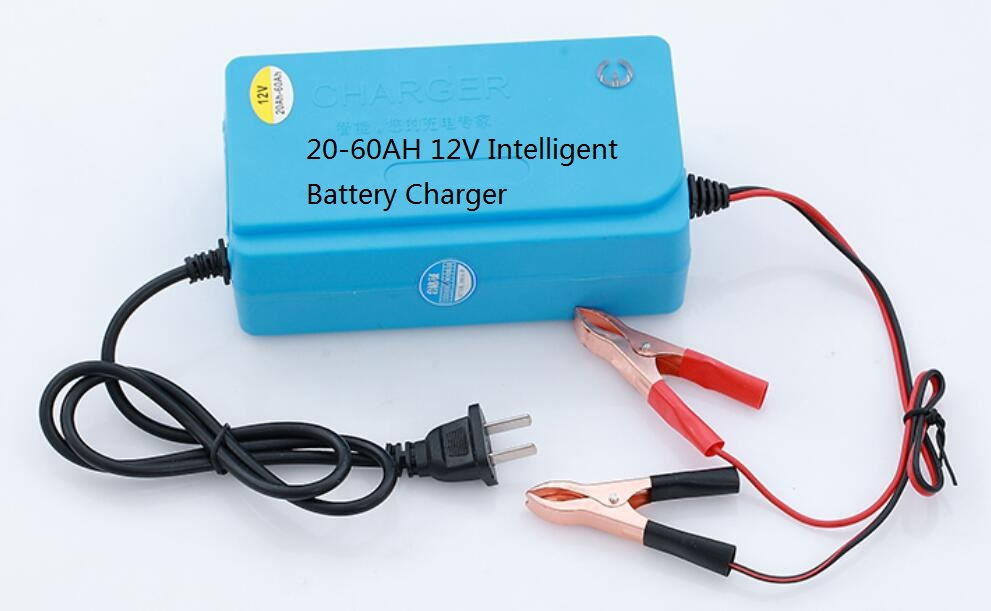 12V 6A Car Minibus Intelligent Battery Charger 20-60AH Repair 50 ...