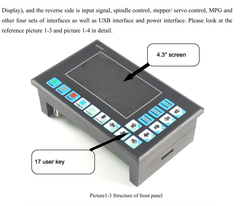 Ddcsv 2.1 500KHz CNC 4-Axis Controlador de movimiento controlador de motor paso a paso Código G Sistema