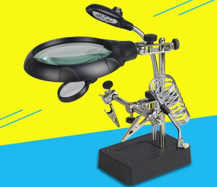 10x Desktop Optical Magnifier Adjustable Magnifying Glass