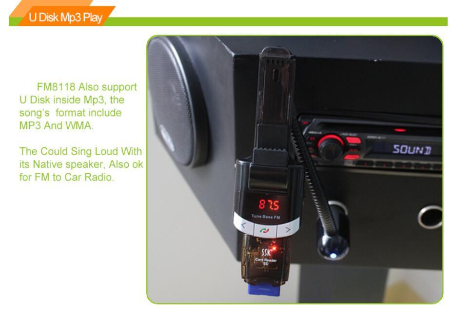 Smart Phone Holder Car Charger Kit Bluetooth Handsfree FM
