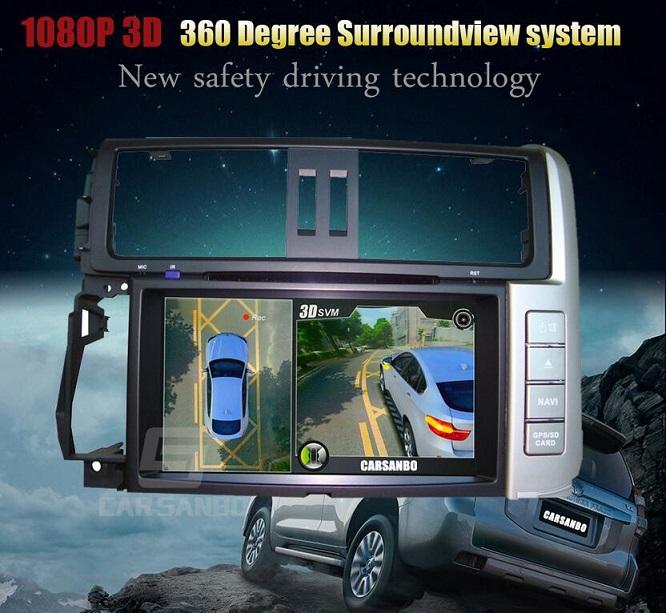 3d 1080p 360 Degree Around View Car Camera System Dv360 3db Free