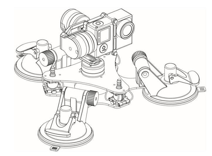 Tarot 3 Axis Camera Brushless Gimbal Tl3t03 For Tarot Gopro Hero33