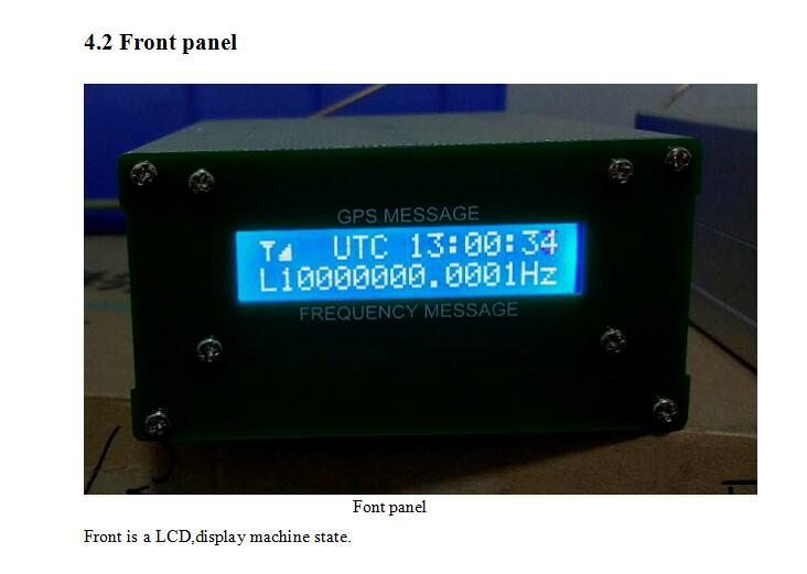 GPSDO GPS Colck 10M LCD Display Frequency Message Disciplined Oscillator UK
