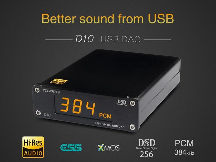 Details about D10 Audio Amplifier Decoder USB Digital DAC DSD HiFi CSS XMOS  XU208 ES9018K2M