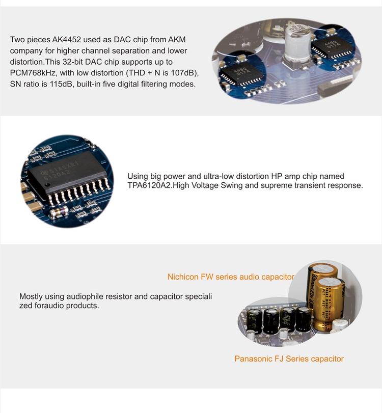 SMSL M7 DSD512 AK4452 * 2 USB DAC Amp Headphone Amplifier