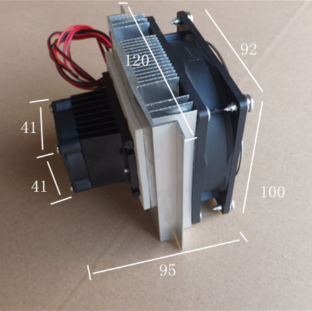 DIY Thermoelectric Refrigeration Cooler Fan Cooling System TEC1-12706 7
