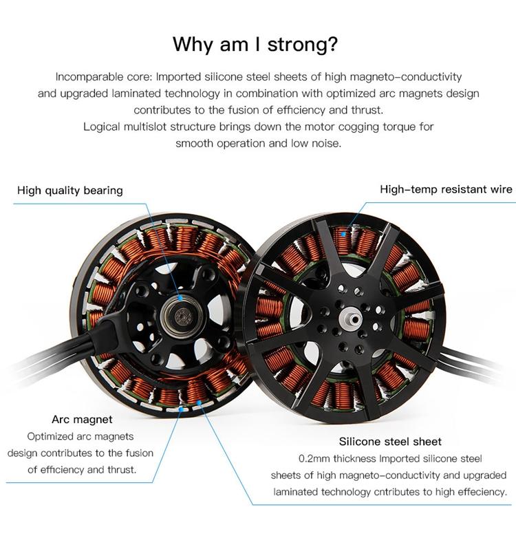 Details about MN6007 160KV Brushless Motor Max  Thrust 5 5kg for Super  Light Drone xa80** SZ