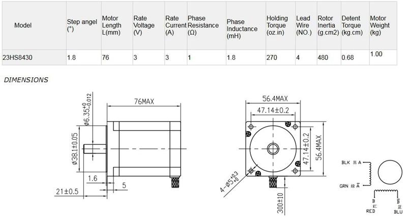 Engraving Machine Stepper Motor Engraving Machine Motor 23HS8430 4-Lead Router 57 Stepper Motor Driver CHUNSHENN Motor Drives