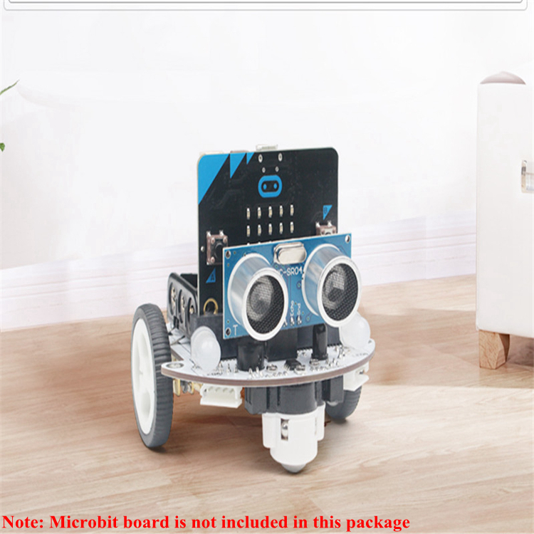 2WD Programmable Robot Car Kit Unfinished Microbit Robot