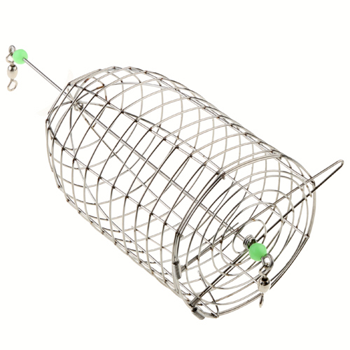 Stainless Steel Mini Shrimp Lure Cage Fishing Device