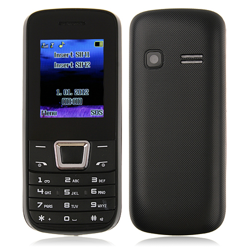 ZTK 2252 Phone Dual Band Dual SIM Card Bluetooth FM Camera 1.8 Inch- Black