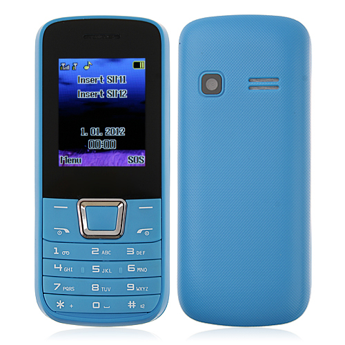 ZTK 2252 Phone Dual Band Dual SIM Card Bluetooth FM Camera 1.8 Inch- Blue