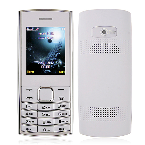 ZTK X2-05 Phone Dual Band Dual SIM Card Bluetooth FM Camera 2.0 Inch- White