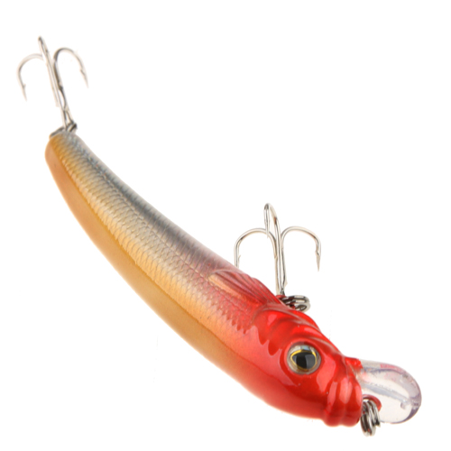 85mm Minnow Lures Real-like Fish Shape  With Two Quality Treble Hooks Color Random