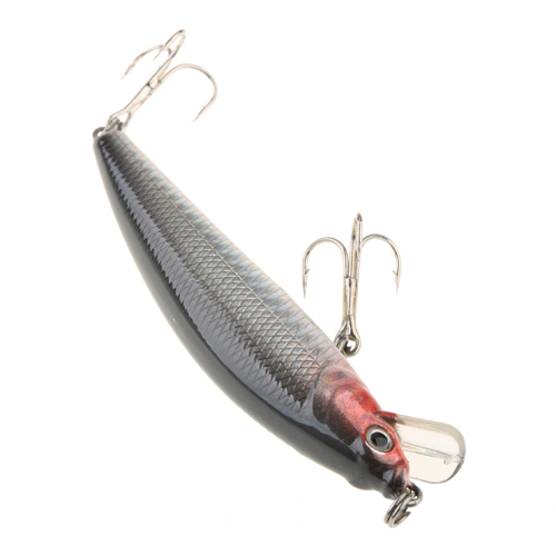 100mm Minnow Lures Real-like Fish Shape  With Two Quality Treble Hooks Color Random