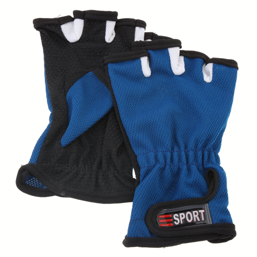 Fashion Unisex Half Finger Anti-slip Outdoor Sports Gloves for Fishing 3 Color