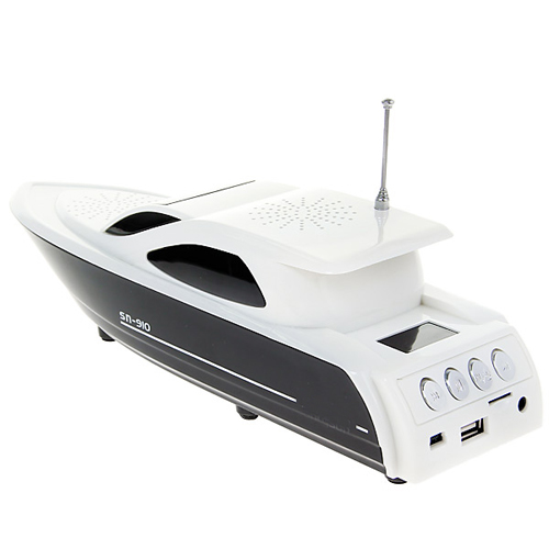 Yacht Shape Digital Speaker FM Radio TF Card Slot