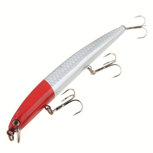 Real-like Long Lip Fish Reflective Fishing Lure Crank Bait with 3 Treble Hooks