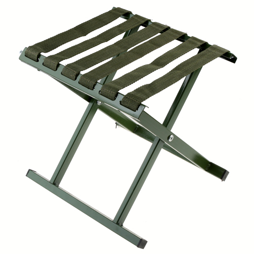 Outdoor Fishing Beach Chair Folding Stool Flat Bottom S Size-Army Green