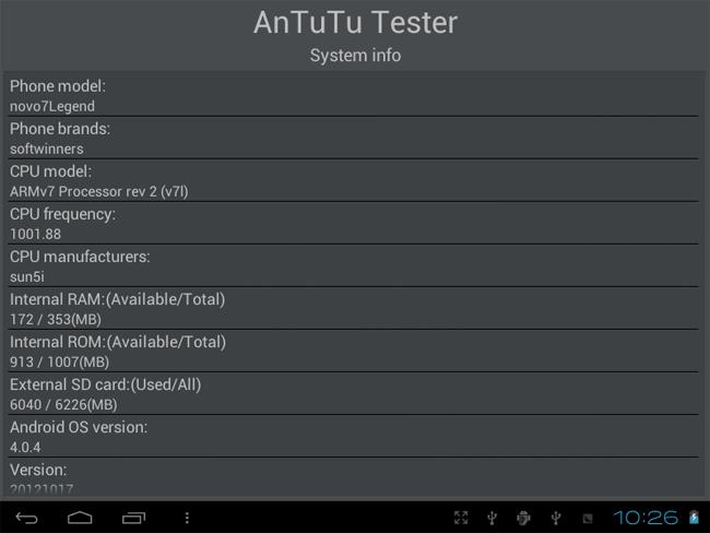 Ainol Novo 7 Legend Tablet PC 7 Inch Android 4.0 8GB Camera Black