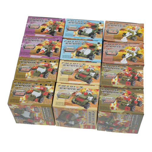 12 Pcs Blocks Toys Of Exotic soldier Racing series Chariot series