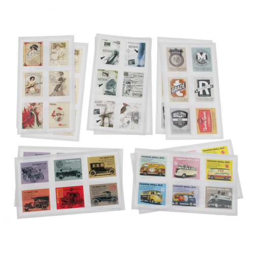 2x 10 Pcs British Style Stamp Stickers