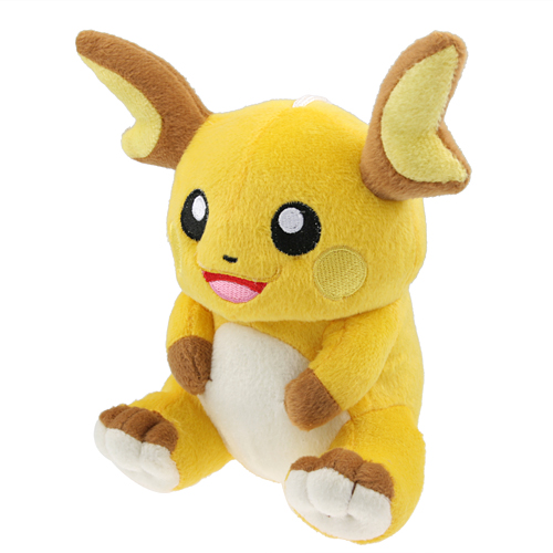 Lovely 6 inch Pokemon Raichu Soft Plush Doll Toy with Sucker