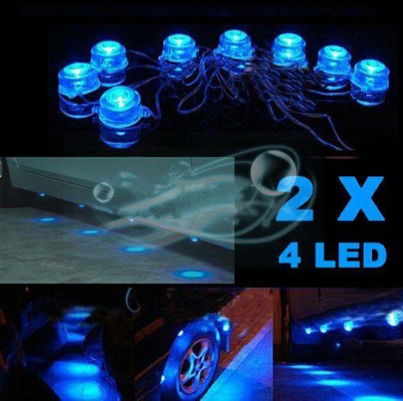 ZY-612  8pcs Blue LED Light Underbody Undercar Decorative Lamp Waterproof Lamps