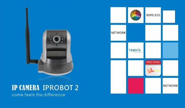 TENVIS IPROBOT 2 New Wireless IP Camera With Super Wireless Signal