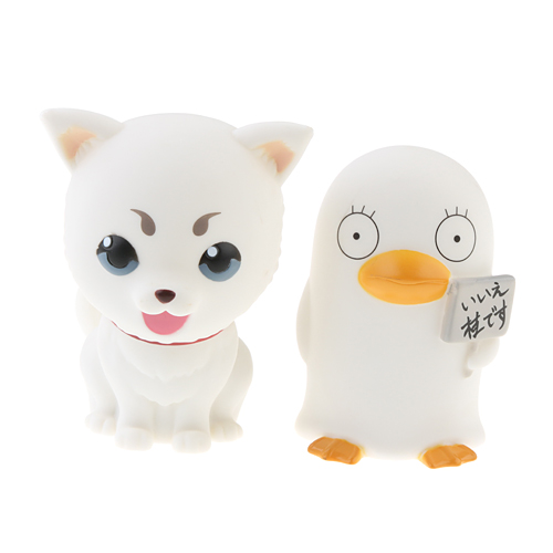 2pcs Gintama Silver Soul Sadaharu and Elizabeth Figure Coin Bank Set