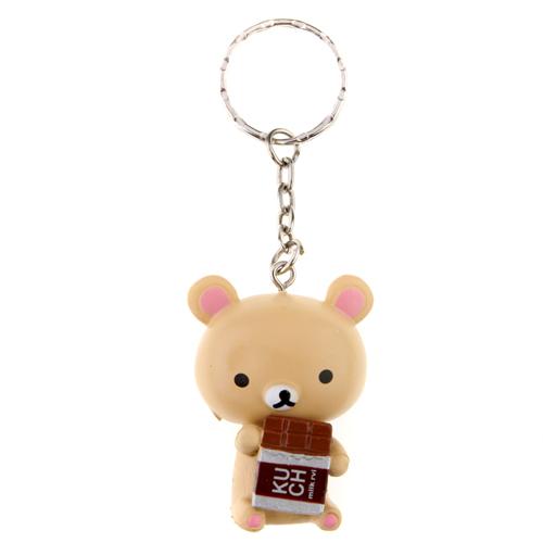 5pcs Fashionable Adorable Rilakkuma Plastic Keychain 4.5cm