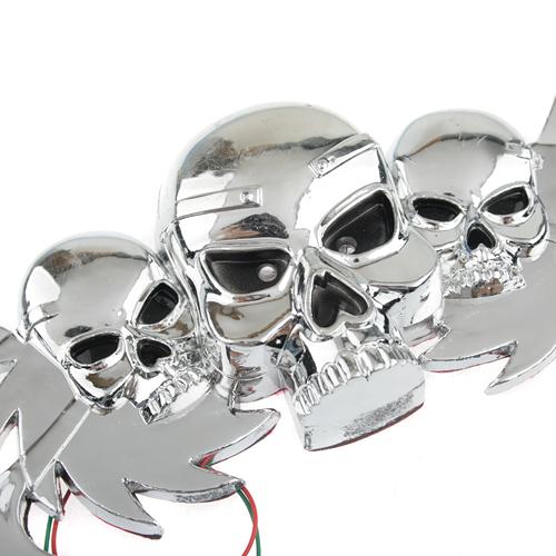 Individuality Three Skeleton Heads Patten Auto Window PVC Sticker Car Adornment