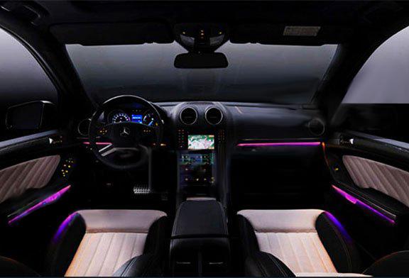 High Brightness Car Decoration 12V DC Inverter 2 Meter EL Wire (2.3mm) Purple