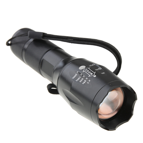 SS-A100 CREE XML T6 3-Mode Zooming Scalable LED Flashlight 1600 Lumens