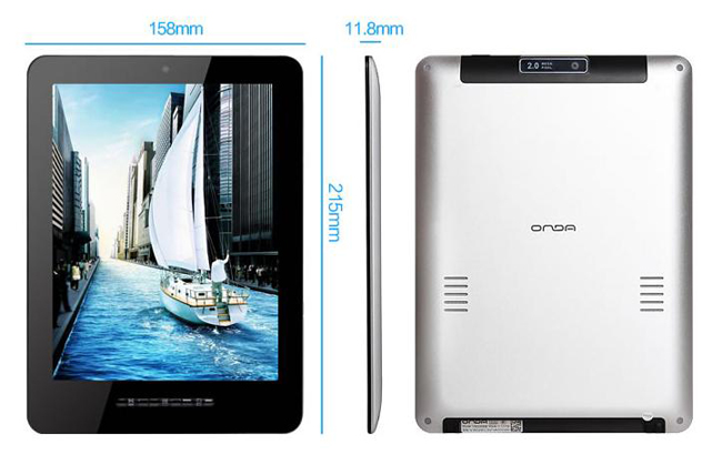 ONDA V802 8 Inch Tablet PC Android 4.0 HD Screen Dual Core 8G Dual Camera