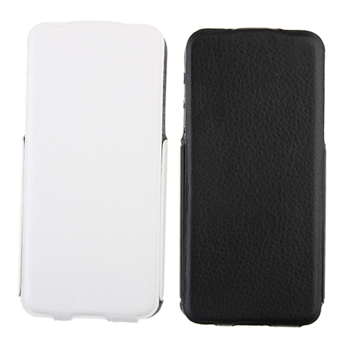 Flip Style Leather Case for iPhone 5 Black/White