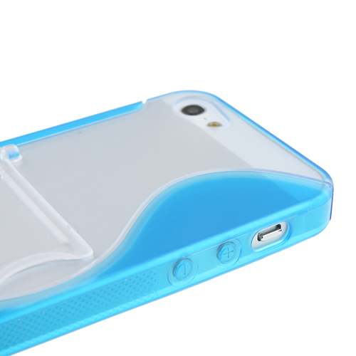 Protective Plastic & Rubber Back Case Stand for iPhone 5