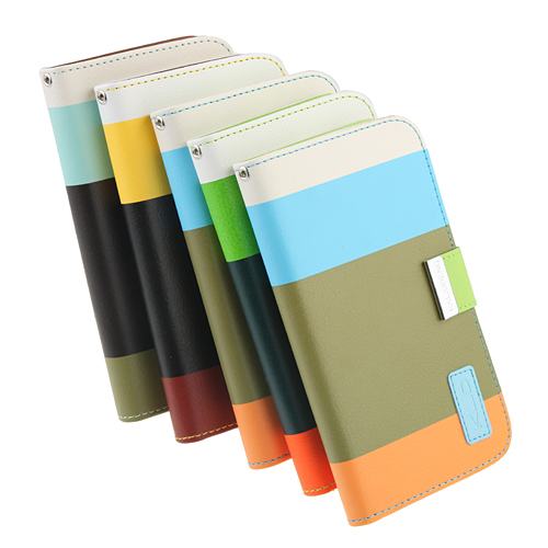 Inner Plastic Case Color Match Leather Case Cover for SS Galaxy NoteII N7100