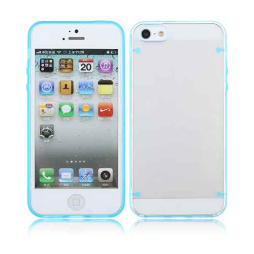 Ultra-thin Transparent Plastic Back Cover Case for iPhone 5