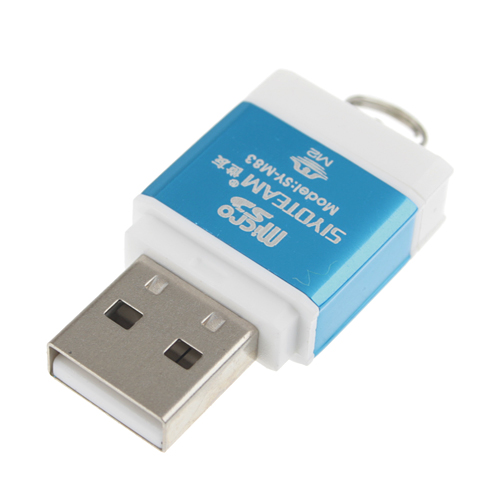 SY-M83 Hi-Speed Card Reader USB Blue