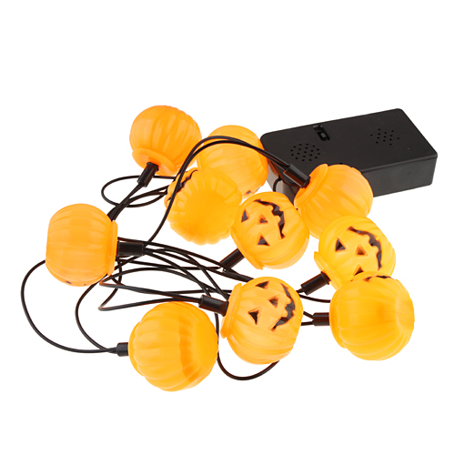 12 in1 Halloween Pumpkin Lantern Music Color Changing Lights with Scary Sounds