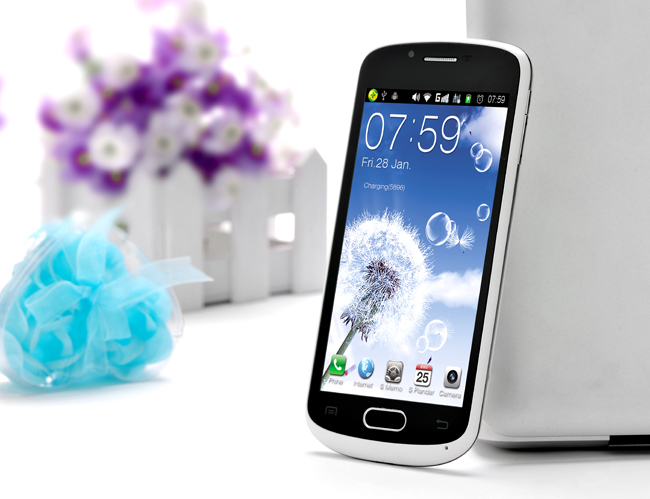 CUBOT A8809 Smart Phone 4.7 Inch IPS QHD Screen Android 4.0 MTK6577 3G GPS 8.0MP Camera- White