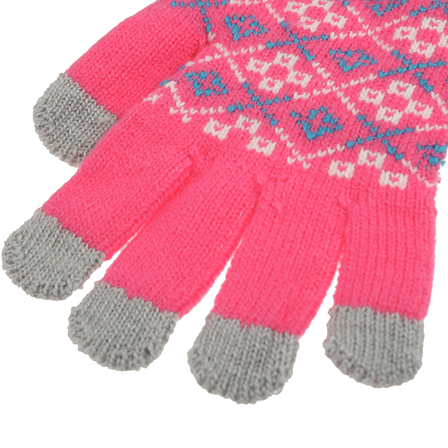 Functional One Size Touch Gloves for iPhone iPad Soft Screen Tablet PC Color Random