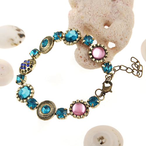Baroque Style Rhinestone Decor Bracelet Jewelry